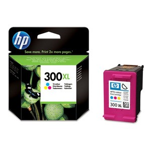 Genuine High Capacity Tri-Colour HP 300XL Ink Cartridge - CC644EE