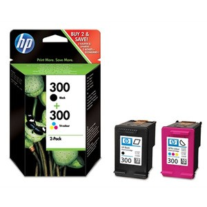 Genuine Black & Tri-Colour HP 300 Ink Cartridge Multipack CN637EE