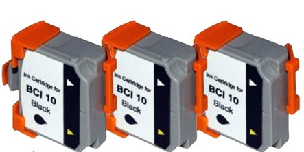 Three Pack Compatible BCI-10bk Inkjet Printer Cartridges