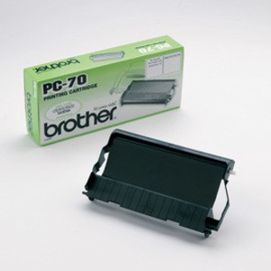 Original Brother Black Fax Thermal Cartridge/Ribbon (PC70)
