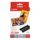 Original Tri-Colour Canon KC-36IP Ink Cartridge & Paper Photo Pack - (7739A001AB)