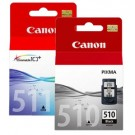 Combo Pack Original Genuine Canon PG-510 & CL-511 Colour