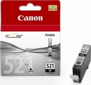 Original Black Canon CLI-521BK Ink Cartridge - (2933B001AA)