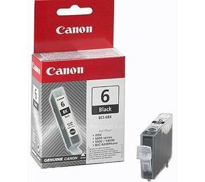 Original Black Canon BCI-6BK Ink Cartridge - (4705A002)