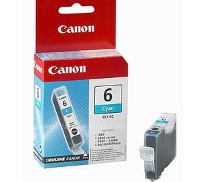 Original Cyan Canon BCI-6C Ink Cartridge - (4706A002)