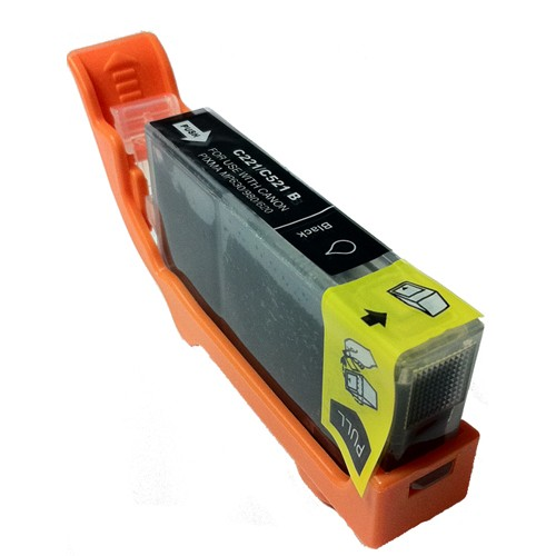 Compatible Black Canon CLI-521BK **With Chip**