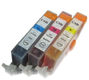 Compatible Three Pack Cyan, Magenta, Yellow CLI-526cmy, Chipped