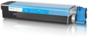 Compatible Cyan Oki 43381907 Toner Laser Cartridge - 43381907
