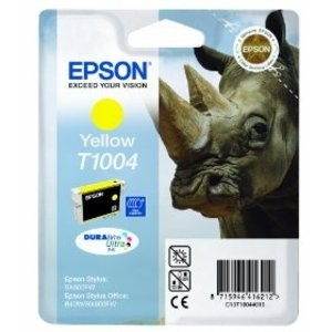 Genuine Yellow Epson T1004 Ink Cartridge