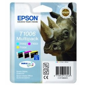 Genuine Multipack 3-Colour Epson T1006 Ink Cartridge