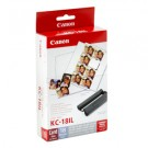 Original Tri-Colour Canon KC-18IL Ink Cartridge & Mini Stickers Photo Pack - (7740A001AF)