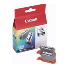 Original Black Canon BCI-15BK Ink Cartridge Twin Pack - (8190A002)