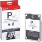 Original Canon E-P25BW Easy Photo Pack (25 Postcard Size Black and White Prints)