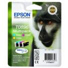 Genuine Multipack 3-Colour Epson T0896 Ink Cartridge