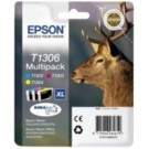 Genuine Extra High Capacity 3 Colour Epson T1306 Ink Cartridge Multipack